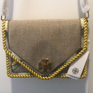 021999f8fac0 Tory Burch Bags - NWT Tory Burch Kira Braided Canvas Crossbody Bag
